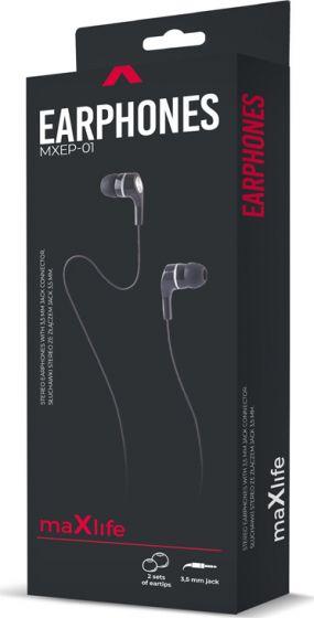 Maxlife Ακουστικά 3,5m OEM001605 Λευκό