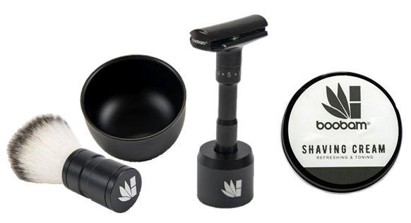 Σετ Boobam Ξυριστικά Μπολ & Βούτσα, Razor X και Κρέμα Ξυρίσματος 100ml