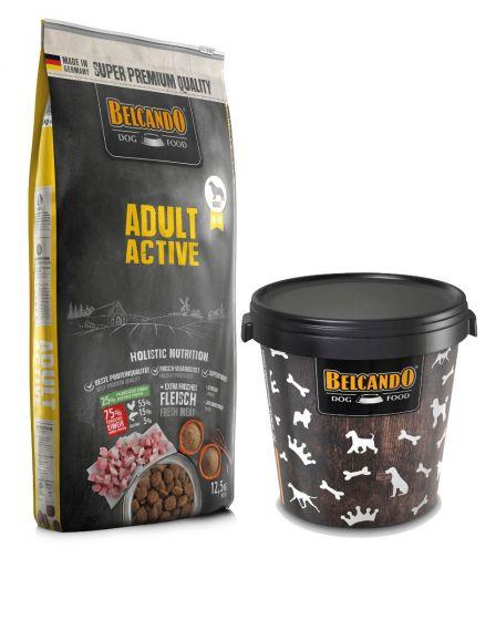 Belcando Adult Active Ξηρά Τροφή για Σκύλους Σακί 12,5Kg + Κάδος 15kg ΔΩΡΟ