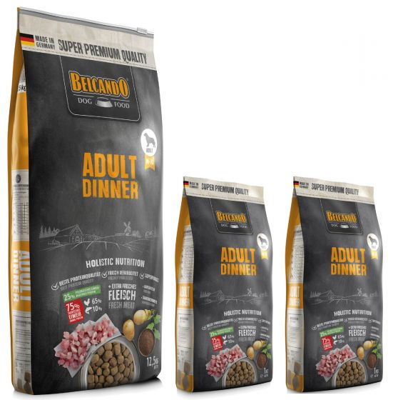 Belcando Adult Dinner Ξηρά Τροφή για Σκύλους Σακί 12,5kg +2kg Δώρο