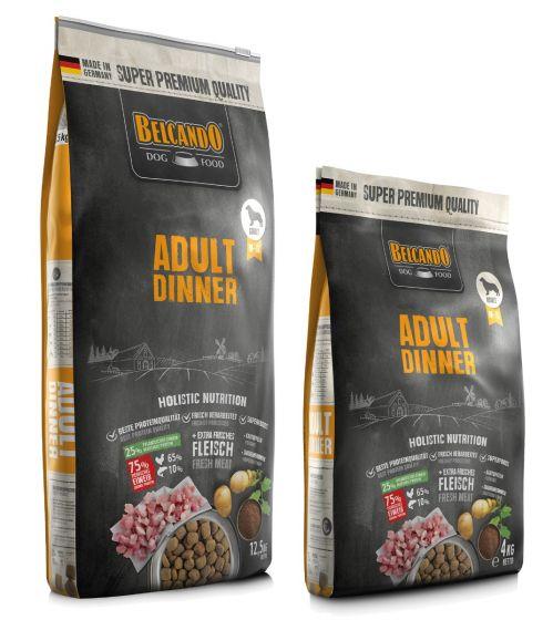 Belcando Adult Dinner Ξηρά Τροφή για Σκύλους Σακί 12,5kg + 4Kg Δώρο