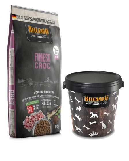 Belcando Finest Croc Ξηρά Τροφή για Σκύλους Σακί 12,5kg + Κάδος 15kg ΔΩΡΟ