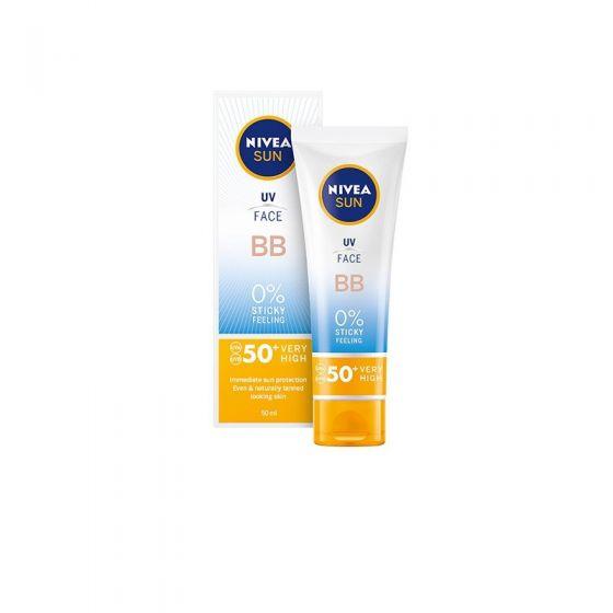 Nivea Sun UV Cream BB Αντηλιακή Προστασία με 0% Αίσθηση Λιπαρότητας SPF50+ 50ml