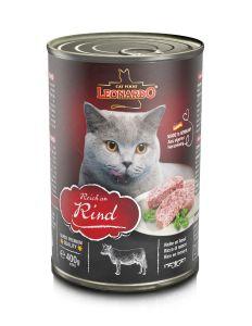 Leonardo Beef Εκλεπτισμένο Πατέ για Γάτες με Βοδινό 400gr