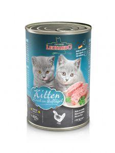 Leonardo Kitten Εκλεπτισμένο Πατέ για Γατάκια με Πουλερικά & Λάδι Σολωμού 400gr