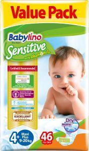Value Pack Babylino Sensitive Πάνες Νο4+ (9-20Kg) 46 τεμάχια
