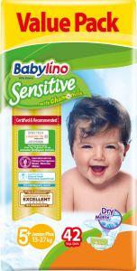 Value Pack Babylino Sensitive Πάνες Νο5+ (13-27Kg) 42 τεμάχια