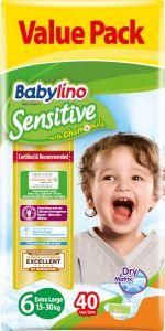 Value Pack Babylino Sensitive Πάνες Νο6 (15-30Kg) 40 τεμάχια