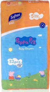 Softex Peppa Pig Παιδικές Πάνες Νο 5 (12-18 Kg) 32 τεμάχια