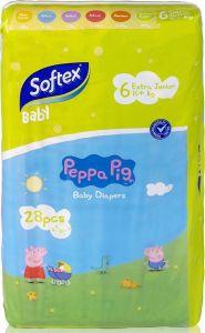 Softex Peppa Pig Παιδικές Πάνες Νο 6 (16+ Kg) 28 τεμάχια
