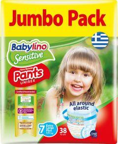 Jumbo Pack Babylino Pants Unisex Νο7 (17+ Kg) 38 τεμάχια