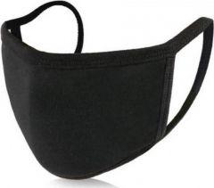 Μάσκα Προσώπου Βαμβακερή 100% Μαύρη 2τεμ. Πολλαπλών Χρήσεων