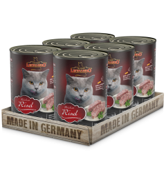 Leonardo Beef Σετ 6 Πατέ για Γάτες με Βοδινό 6x400gr