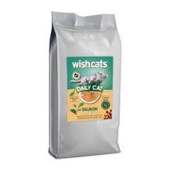 Wish Cats Ξηρά Τροφή Daily Cat Salmon Σακί 15kg