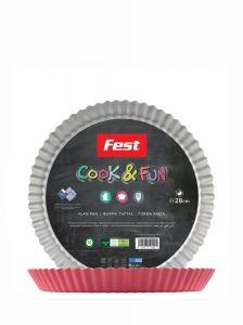 Fest Cook & Fun Στρογγυλή Φόρμα Τάρτας 28cm