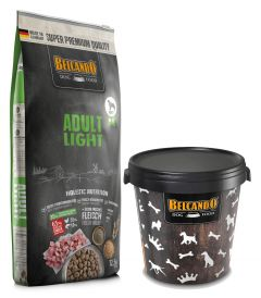 Belcaldo Adult Light Ξηρά Τροφή Σακί 12,5kg + Κάδος 15kg ΔΩΡΟ