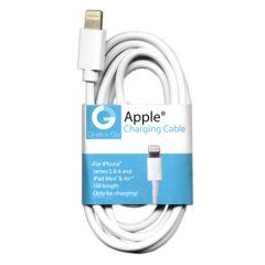 GNG Καλώδιο Φόρτισης & Data Για iPhone Άσπρο 1m