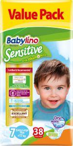 Value Pack Babylino Sensitive Πάνες Νο7 (+17 Kg) 38 τεμάχια