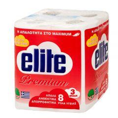 Elite Χαρτί Τουαλέτας Premium 8 ρολά 3φυλλα