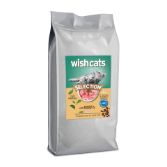 Wish Cats Ξηρά Τροφή Selection Beef & Liver Σακί 15kg