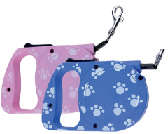 Λουρί για Σκύλους Αυτόματο με Σχέδιο 3m-Ρόζ