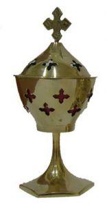 Καντήλι Λιβανιστήρι Μεταλλικό Χρυσό 19,5cm
