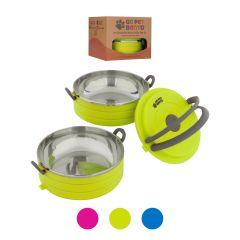 Healthy Human Pet Bento Box Φαγητοδοχείο για Κατοικίδια 16oz Σετ 2 450ml Πράσινο