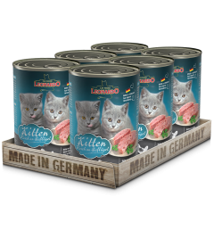 Leonardo Kitten Σετ 6 Πατέ για Γατάκια με Πουλερικά & Λάδι Σολωμού 400gr