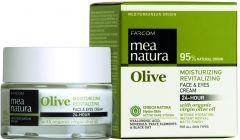 Mea Natura Olive Ενυδατική, Αναζωογονητική 24ωρη Κρέμα για Πρόσωπο & Μάτια