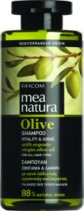 Mea Natura Olive Σαμπουάν Ζωντάνια & Λάμψη 300ml