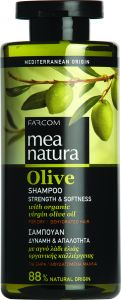 Mea Natura Olive Σαμπουάν Δύναμη & Απαλότητα 300ml
