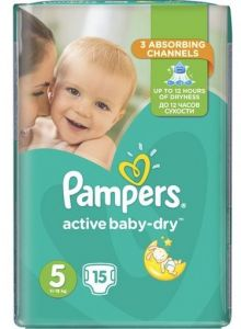 Pampers Active Baby Dry No5 (11-15Kg) 15τεμ.