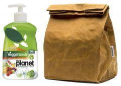 Σετ για Take Away Φρούτων My Planet Veggie Wash και Boobam Lunchbag