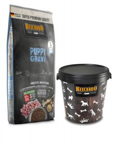 Belcando Puppy Gravy Ξηρά Τροφή Σακί 12,5Kg + Κάδος 15kg ΔΩΡΟ