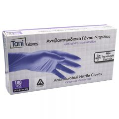 Tani Γάντια Νιτριλίου Αντιβακτηριδιακά χωρίς Πούδρα 100τεμ